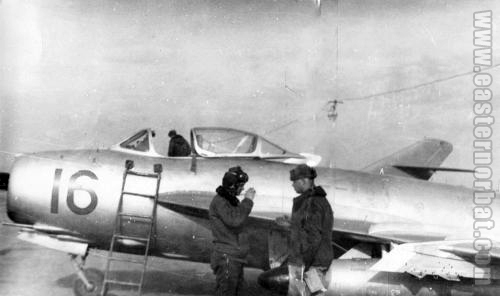 Soviet Air Force Turkestan Military District MiG-17 Fresco 217th Fighter-Bomber Air Regiment Kzyl-Arvat airport