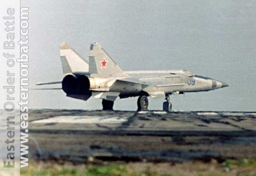 Soviet Air Force 10th independent Reconnaissance Air Regiment MiG-25RB Foxbat at Shchuchin