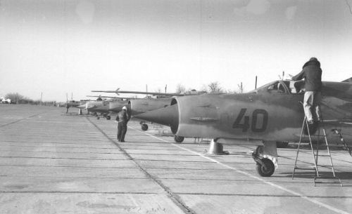 Soviet Air Force Turkestan Military District MiG-21bis Fishbed-L 115th Fighter Air Regiment Kokayty airport
