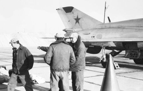 Soviet Air Force Turkestan Military District MiG-21UM Mongol-B 115th Fighter Air Regiment Kokayty airport