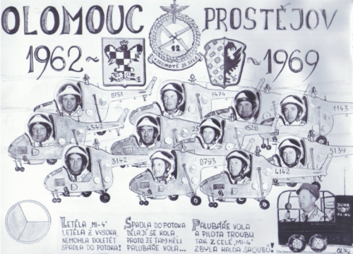 The tableau of the second squadron's pilots in 1969