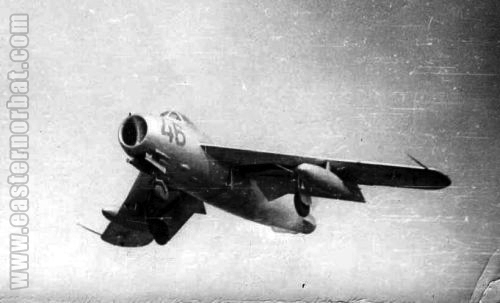 Soviet 136th Fighter-Bomber Air regiment's MiG-17 Fresco-A in Chirchik