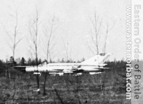 Soviet 147th independent Guard Reconnaissance Air Squadron's MiG-21R Fishbed-H in Smuravyevo