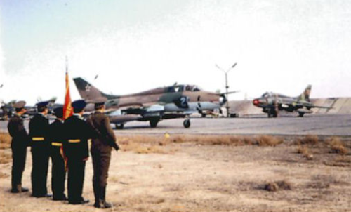 Therefore, to station near the Afghan border the 156th  Interceptor Fighter Regiment recieved a new task. In 1981 they handed over their Su-15 Flagon interceptors and got Su-17M3 Fitter-H bombers instead. Photo: Mir Aviacia no.22