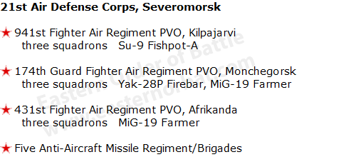USSR 21st Air Defense Corps, Severomorsk
