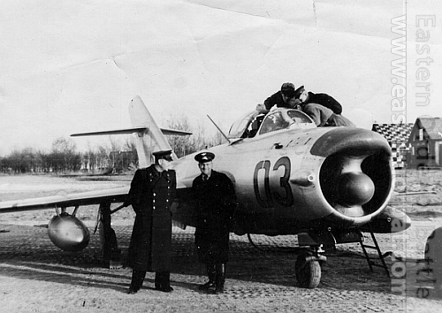 Soviet 224th Fighter Air regiment's MiG-17PF Fresco-D in end of the fifties