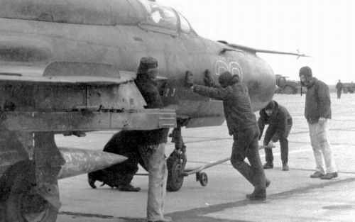 USSR MiG-21SMT Fishbed-K at the Bagerovo airport, Crimea