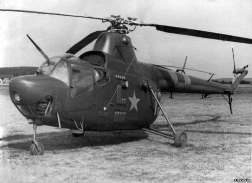 Soviet 245th independent Mixed Air Squadron from Poland Legnica which operated with its Mi-1 Hare courier helicopters with two red invasion bands.