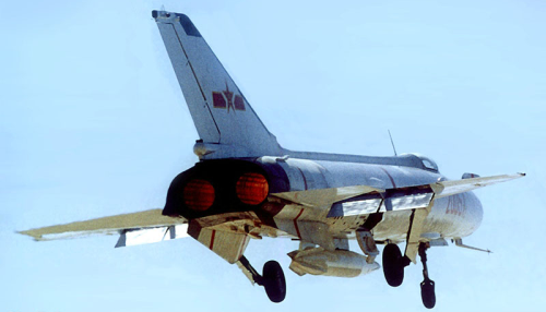 Shenyang J-8A Finback of the 24th Air Division take of with afterburner