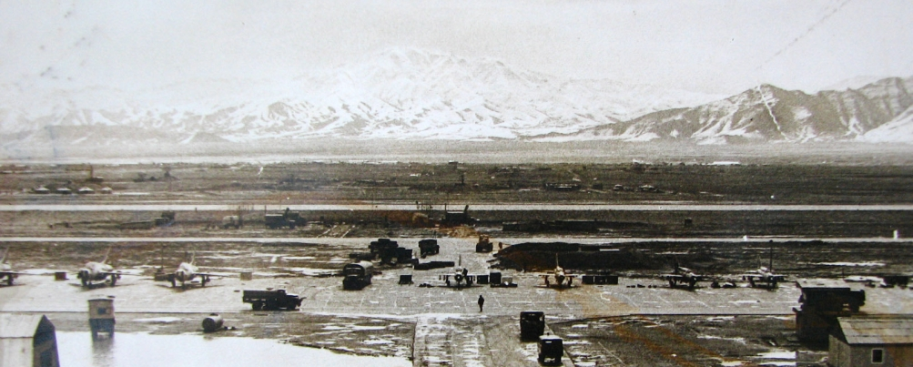On the right the 27th Guard Fighter Air Regiment's MiG-21bis Fishbed-L tactical fighters in Bagram air base in 1981. Photo: Igor Bubin