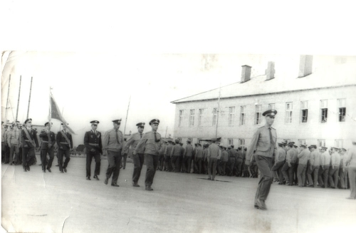 Soviet Air Force parade in Usharal