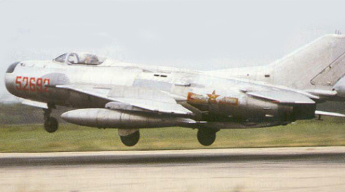 Chinese Shenyang J-6A (MiG-19P) Farmer-B all-weather interceptors