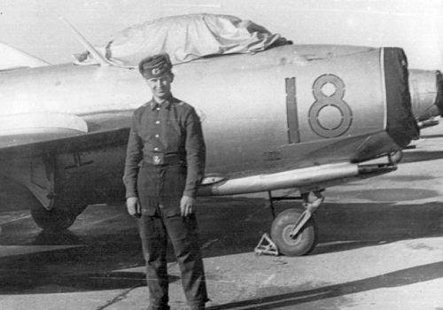 Soviet Air Force MiG-17 Fresco Polish Zagan airport