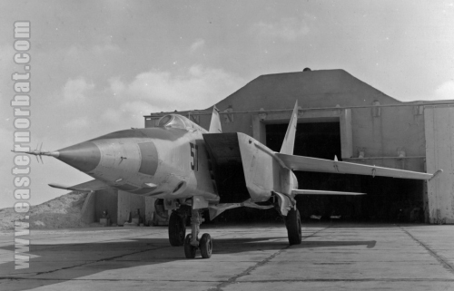 Soviet MiG-25 Foxbar- at Cairo-West airport Egypt