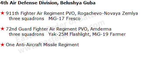 USSR 4th Air Defense Division, Belushya Guba