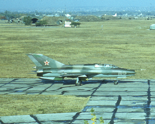Air Force of the Southern Group of Forces's MiG-21UM Mongol-B at Hungary Tököl in 1986