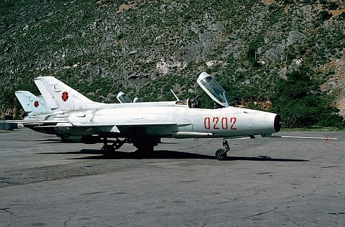 Albanian MiG-21F-13 Fishbed-C. Photo: George Kamp