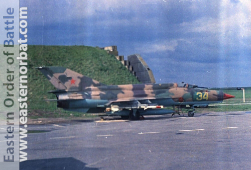 Soviet 582th Fighter Air Regiment at Chojna Poland MiG-21SMT Fishbed-K