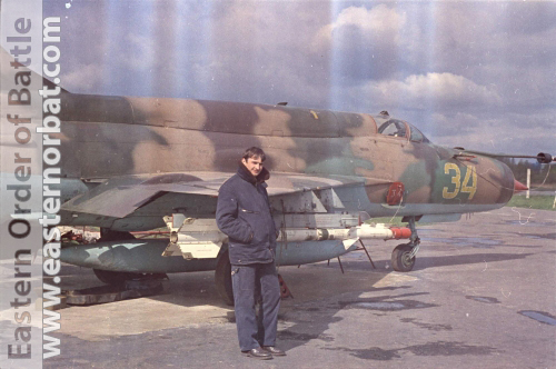 Soviet 582th Fighter Air Regiment at Chojna Poland MiG-21SMT Fishbed-K with R-3R AA-2 and R-60 AA-8 missile