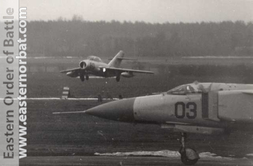 Soviet Air Force 979th Fighter Air Regiment MiG-23ML Flogger-G and MiG-15UTI Midget in 1979