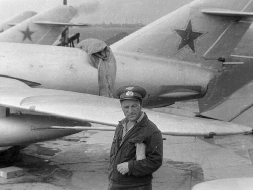 Soviet MiG-17 Fresco-A at Ovruch in the seventies