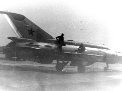 Soviet MiG-21S Fishbed-j at Ovruch in about 1980