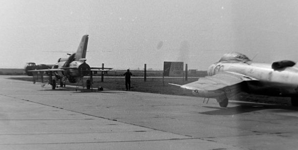 Soviet MiG-21S Fishbed-j and MiG-17 Fresco-A at Ovruch in the seventies
