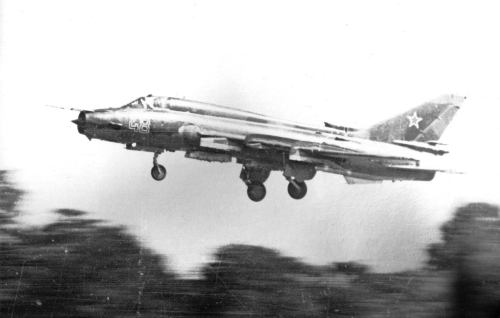 730th Fighter Bomber Air Regiment's Su-17M4 Fitter-K landing