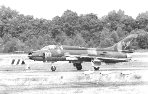 730th Fighter Bomber Air Regiment's Su-17M4 Fitter-K rolls