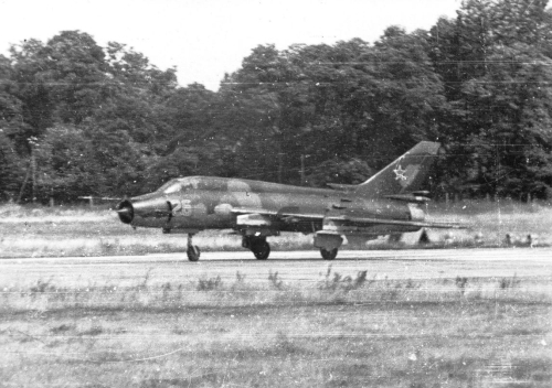730th Fighter Bomber Air Regiment's Su-17M4 Fitter-K at Neuruppin
