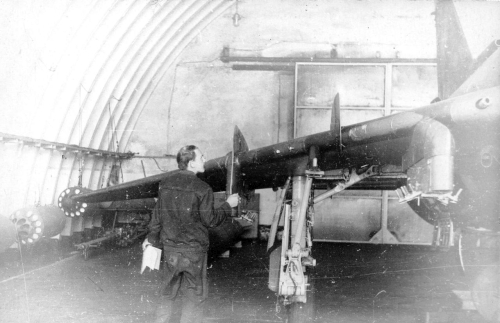 730th Fighter Bomber Air Regiment Su-17M4 Fitter-K in hangar