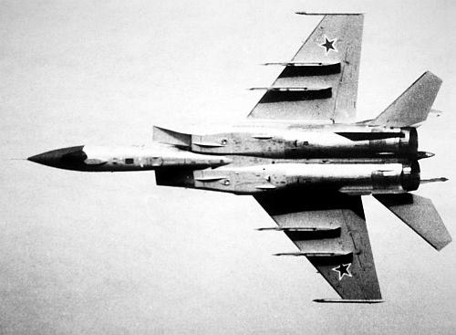 787th Fighter Air Regiment MiG-25PD Foxbat-E in east germany airspace