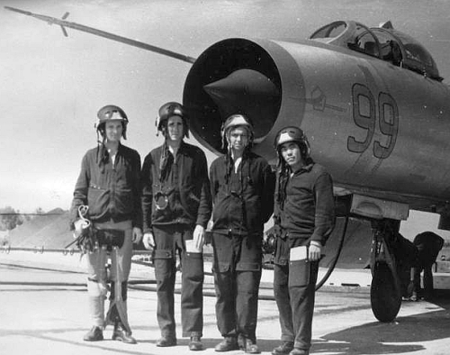 Soviet Su-7BKL Fitter-A at the Litsk airport in early seveties