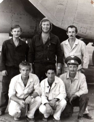 Soviet crew of the MiG-25P Foxbat-A interceptors at Nasosnaya airport close to Baku city in the seventies