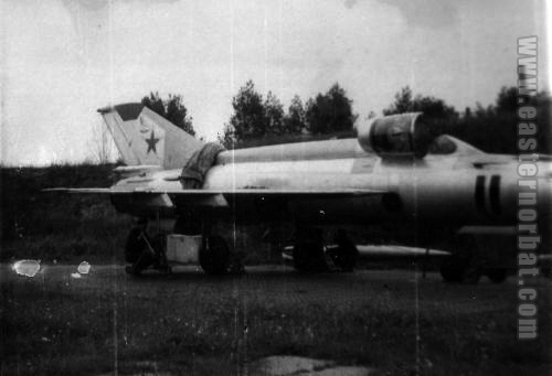 Soviet Air Force 911th Fighter-Bomber Air Regiment MiG-21S Fishbed-J in Lida airport