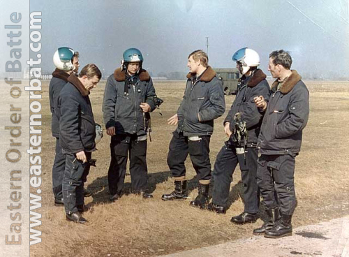 Soviet Air Force 979th Fighter Air Regiment's pilots in 1979