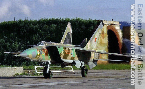 The 98th Independent Guard Air Reconnaissance Regiment colorful MiG-25RBF Foxbat-D Elint version. in nineties