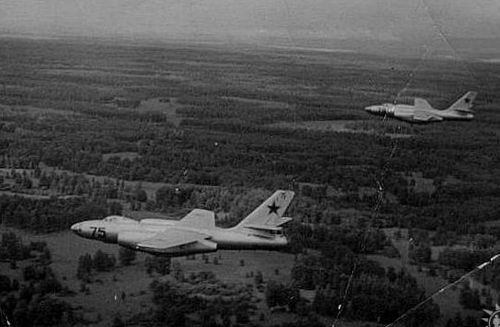 The IL-28R Beagle reconnaissance type along the northern boundary of the Soviet Union