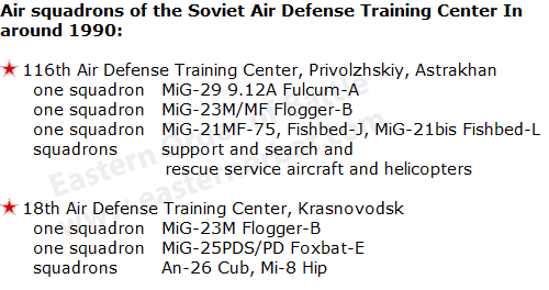 Soviet Air Defense Training Center  in around 1990