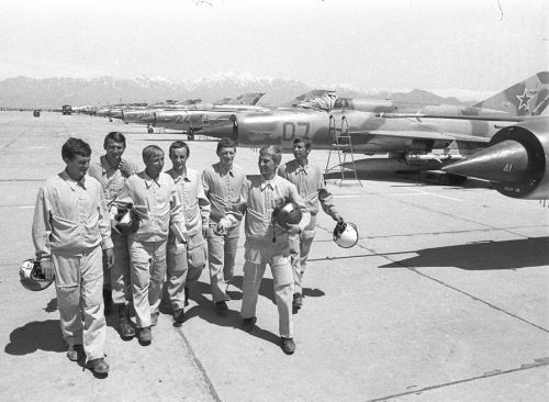 Soviet 115th Fighter Air Regiment at Afghanistan in 1980 with MiG-21bis