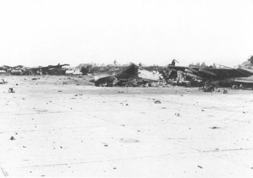 Afghan Air Forece Su-7BMK Fitter-A destroyed in 1989 Shindand