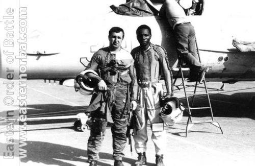 African pilot in front of MiG-21bis Fishbed-L. Photo: Valery Okheretko
