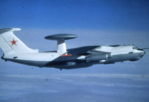 In the second half of the eighties over the Barens and Norwegian Sea Soviet Beriev A-50 'Mainstay' airborne early warning and control aircraft and Su-27 'Flanker-B' air defense fighter patroled.
