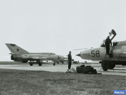 The Odessa Military District's 119th Fighter Air Division deployed with MiG-21PFM/PF Fisbed-F/D tactical fighter in Bulgaria, Dobroslavtzi airport in 1970. Source: Source: pan.bg Retrospotters