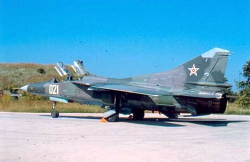 Bulgarian Air Force nuclear bomber MiG-23UB Flogger-C