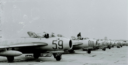 Bulgarian Air Force's MiG-17 Fresco at Bezmer in early 70s. Source: pan.bg Retrospotters