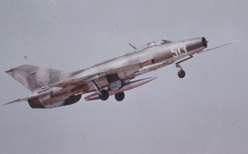 Bulgarian MiG-21F-13 Fishbed-C reconnaissance aircraft.