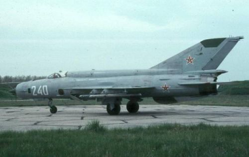 Bulgarian Air Force  MiG-21bis Fishbed-N. Photo: Christian Boisselon collection.