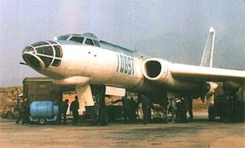 Chinese Xian H-6 (Tu-16) Badger twin-engined jet bomber