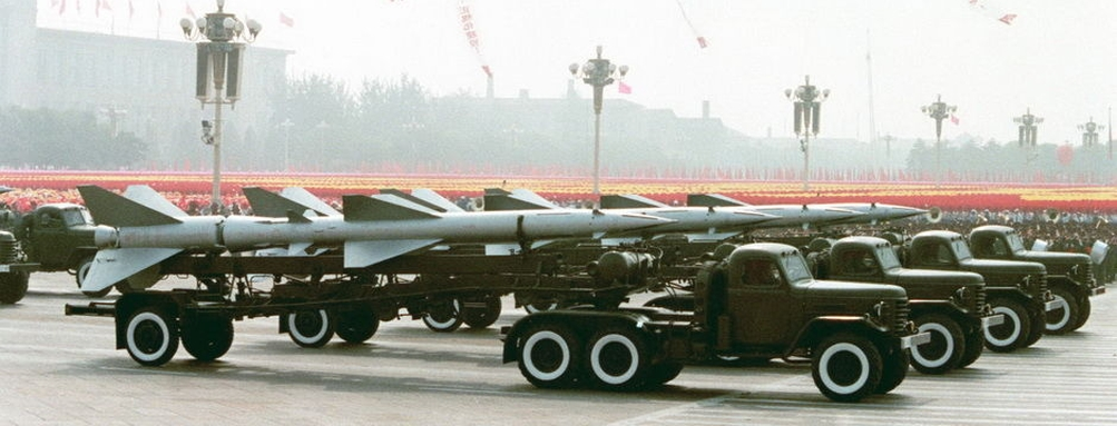 HQ-2 'SA-2 Guideline' anti-aircraft missiles
